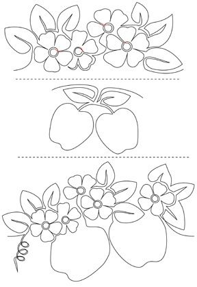 APPLE BLOSSOMS-Pantograph