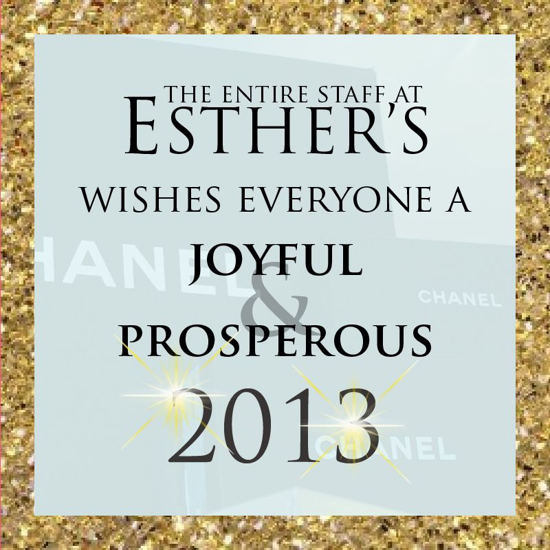 Happy new year from esthers 2013 esther happy new