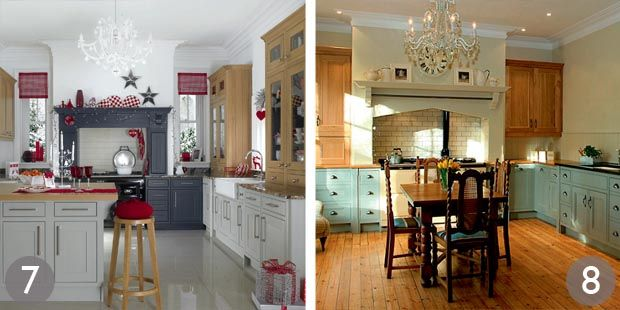 Bespoke Kitchen Design Painting shaker style kitchen with painted cabinets; handmade painted