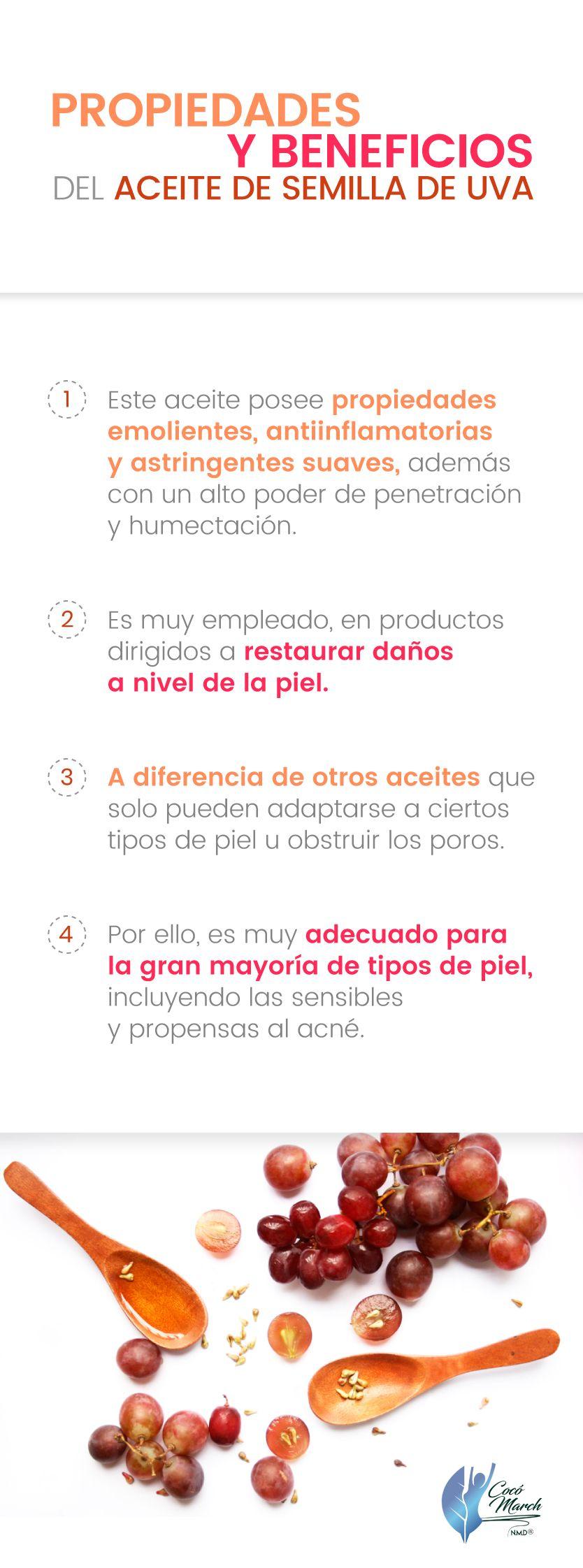 Cómo Usar El Aceite De Semilla De Uva Para Tu Piel Coco March Aceite De Semilla De Uva Semillas De Uva Aceite De Coco Natural