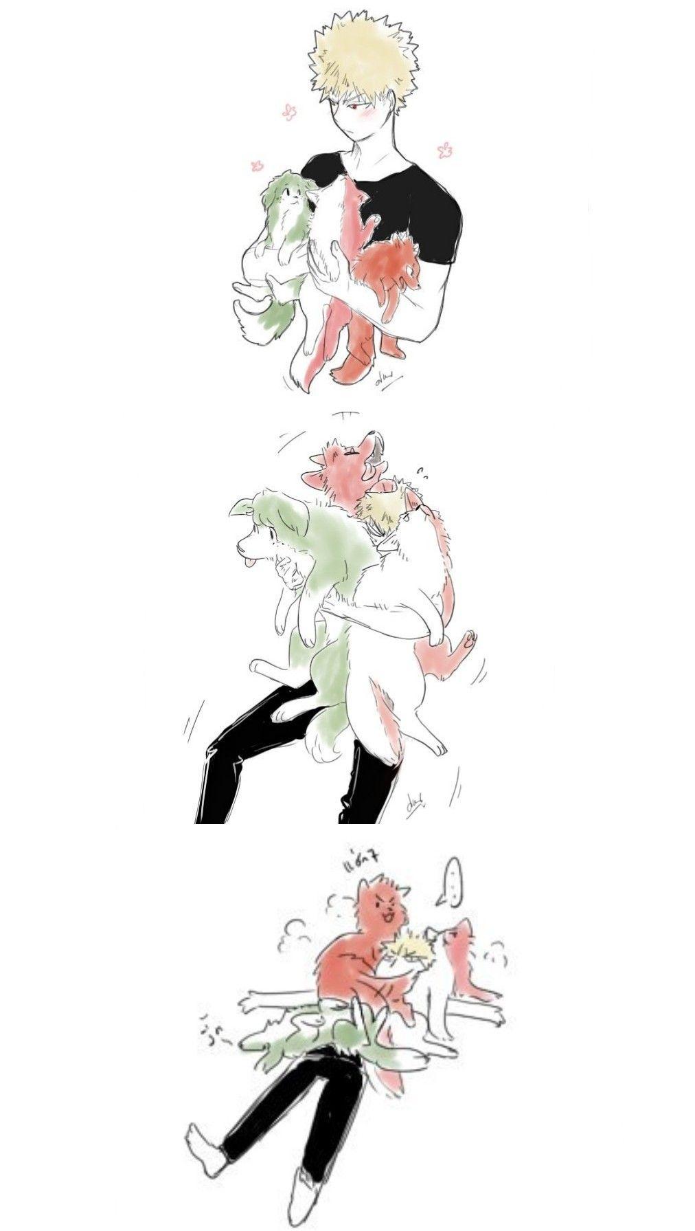 Dog] Midoriya Izuku & Bakugou Katsuki & [Wolf] Todoroki Shouto