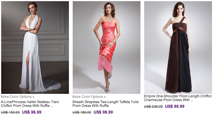 Fashion Finds: Prom Dresses under $100 and tons more to choose from under $150 -