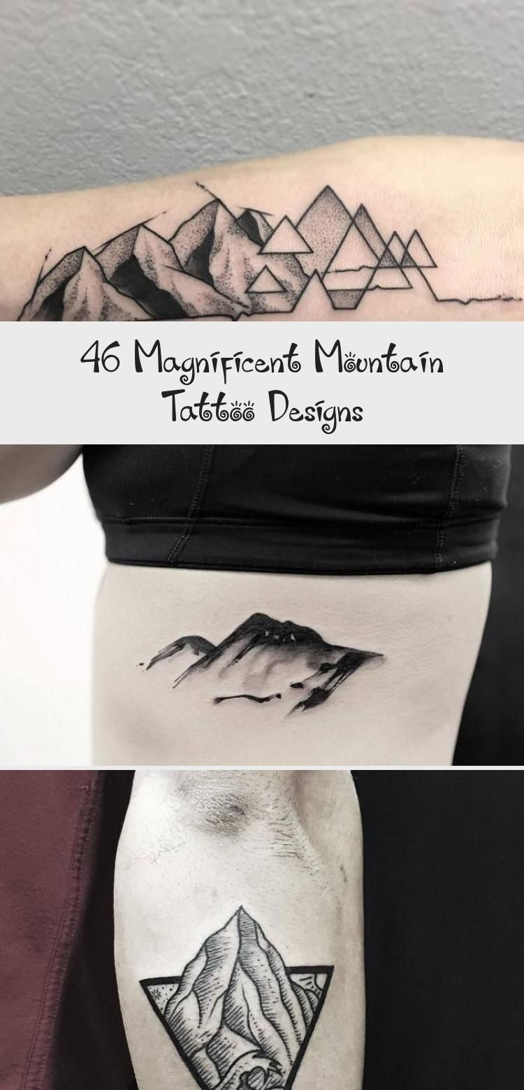 Photo of Mountains and Crescent Moon Tattoo by tattooist_dal #Sunflowermoontattoos #moont…