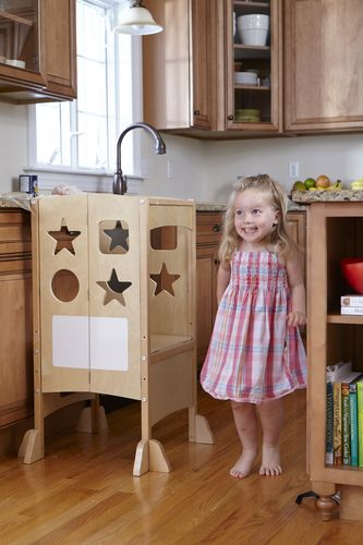Amazon.com: Guidecraft All Grown Up Kitchen Helper Step Stool: Toys ...