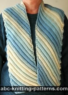 Abc Knitting Patterns Easy Fancy Yarn Scarf Knitting I Love
