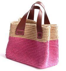 Trinity Outing Bag - free Japanese crochet pattern by Pierrot (Gosyo Co., Ltd)