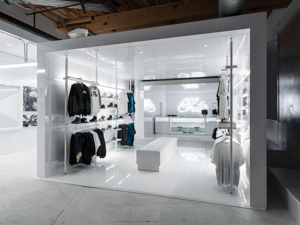 Nike NSW Airspace Shoe store design, Retail interior