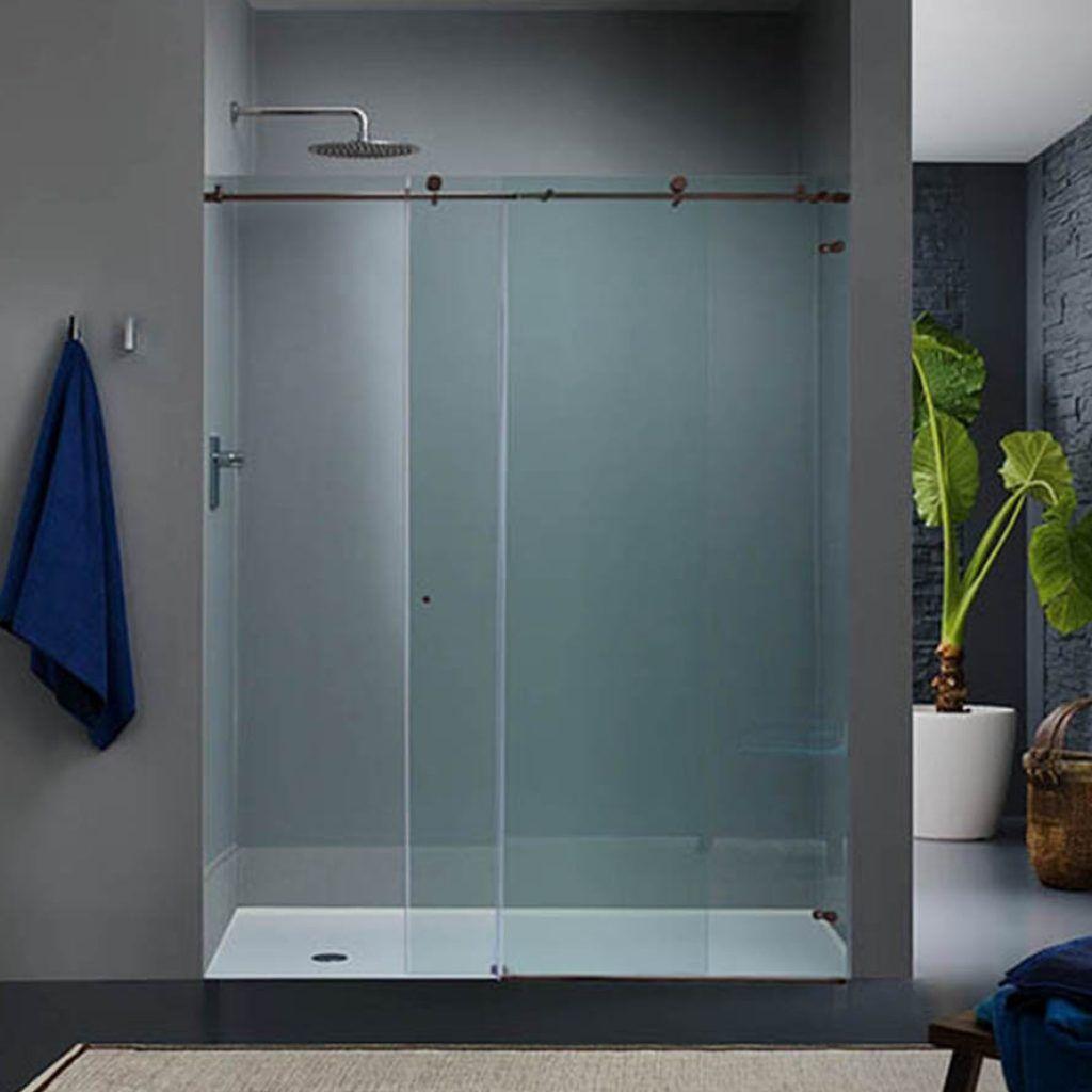 Plexiglass Sliding Shower Doors