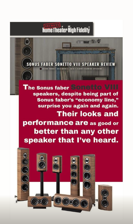 Sonus Faber Sonetto VIII Speaker Review | Reviews about