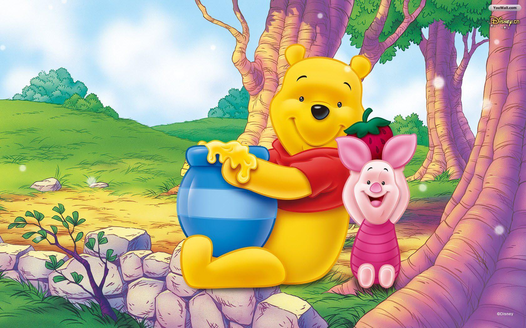 Winnie The Pooh And Friends Wallpaper Youwall Winnie Pooh