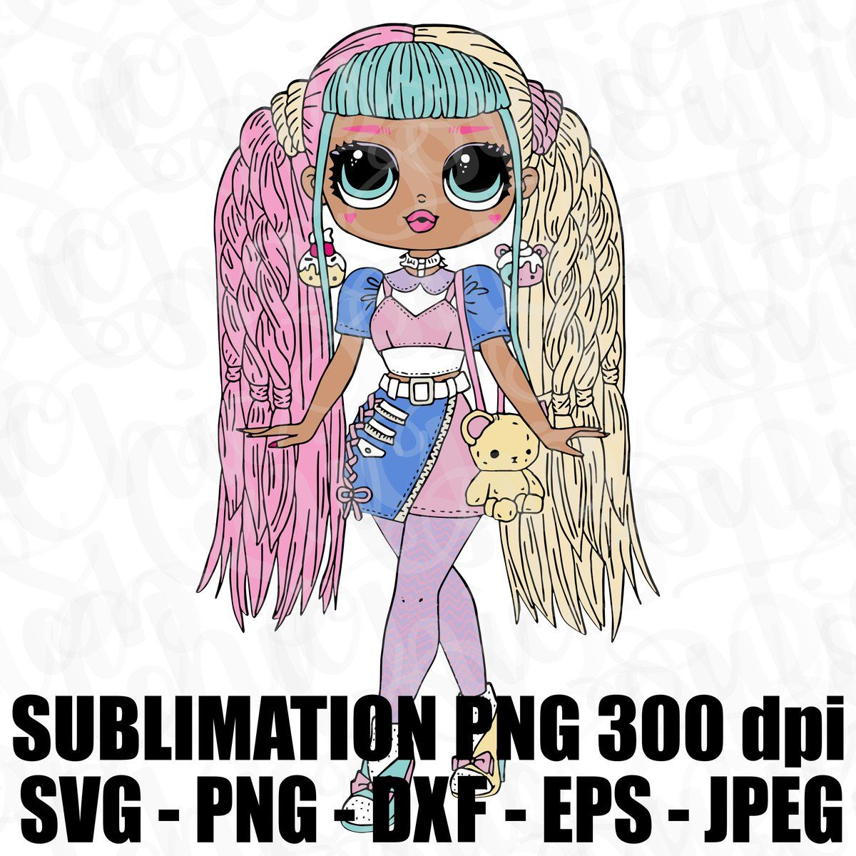 Instant Digital Download For Svg Of Previewed Image Unless Ebay Purchases In That Case The File Will Be Emaile Lol Dolls Barbie Coloring Pages Swag Cartoon