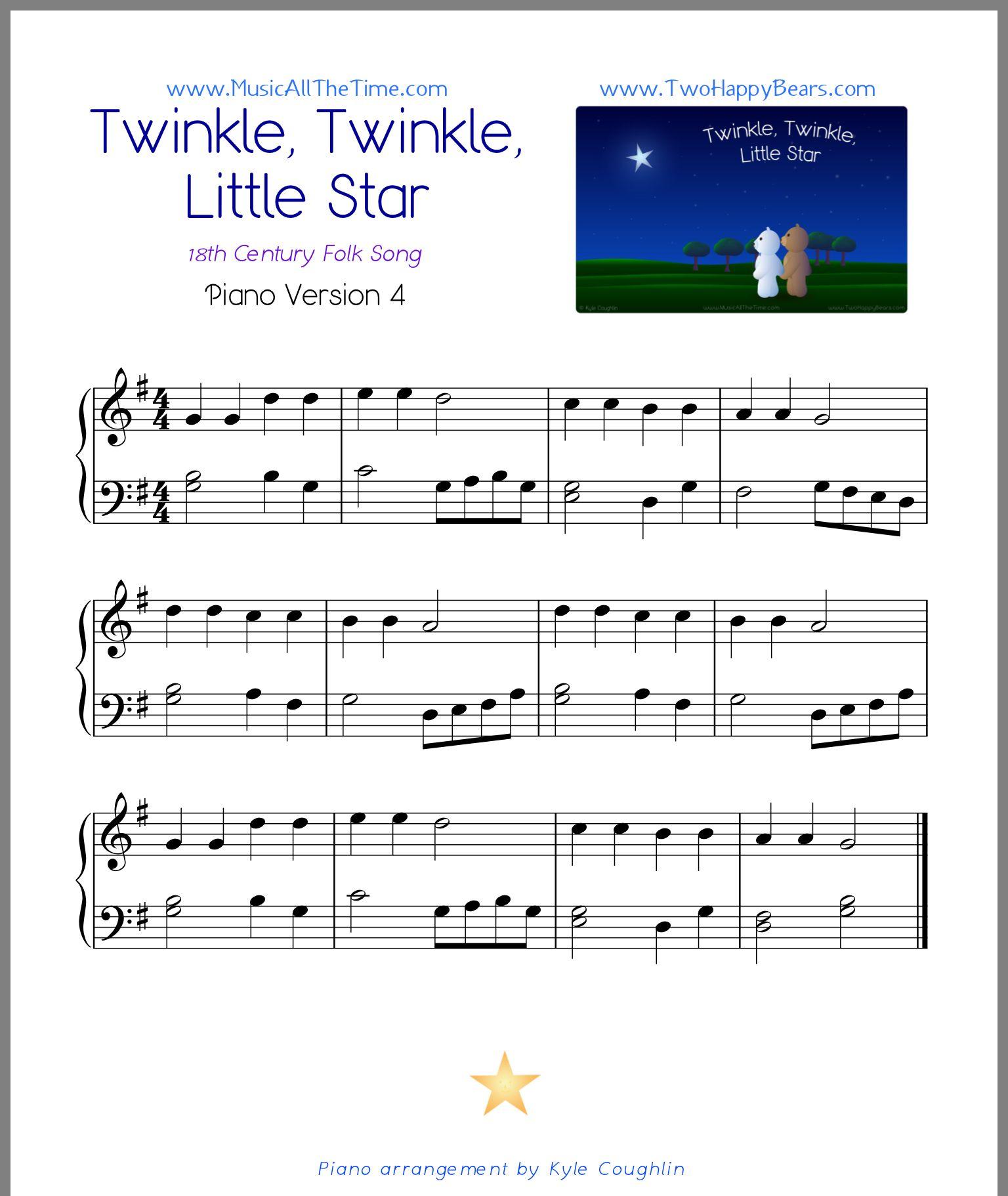 Pin By Lele On Lele Songs Little Star Piano