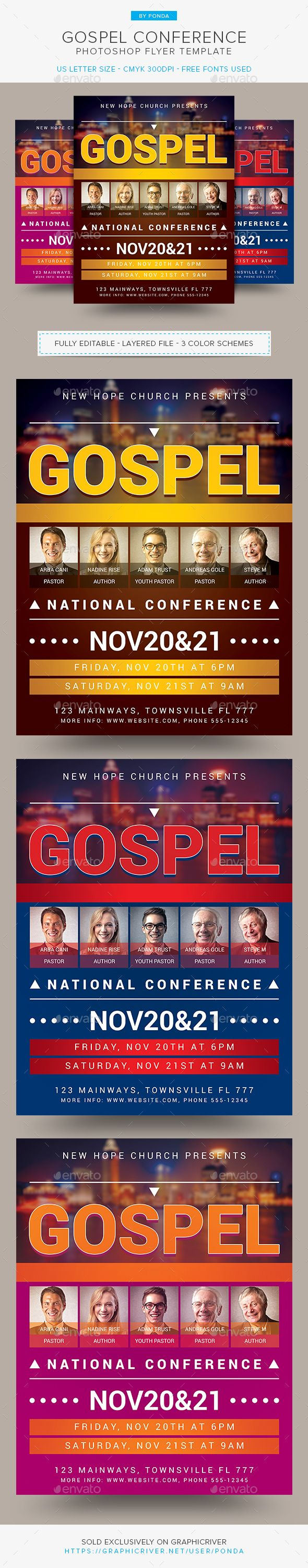 Gospel Conference Flyer Template  Flyer Template Template And
