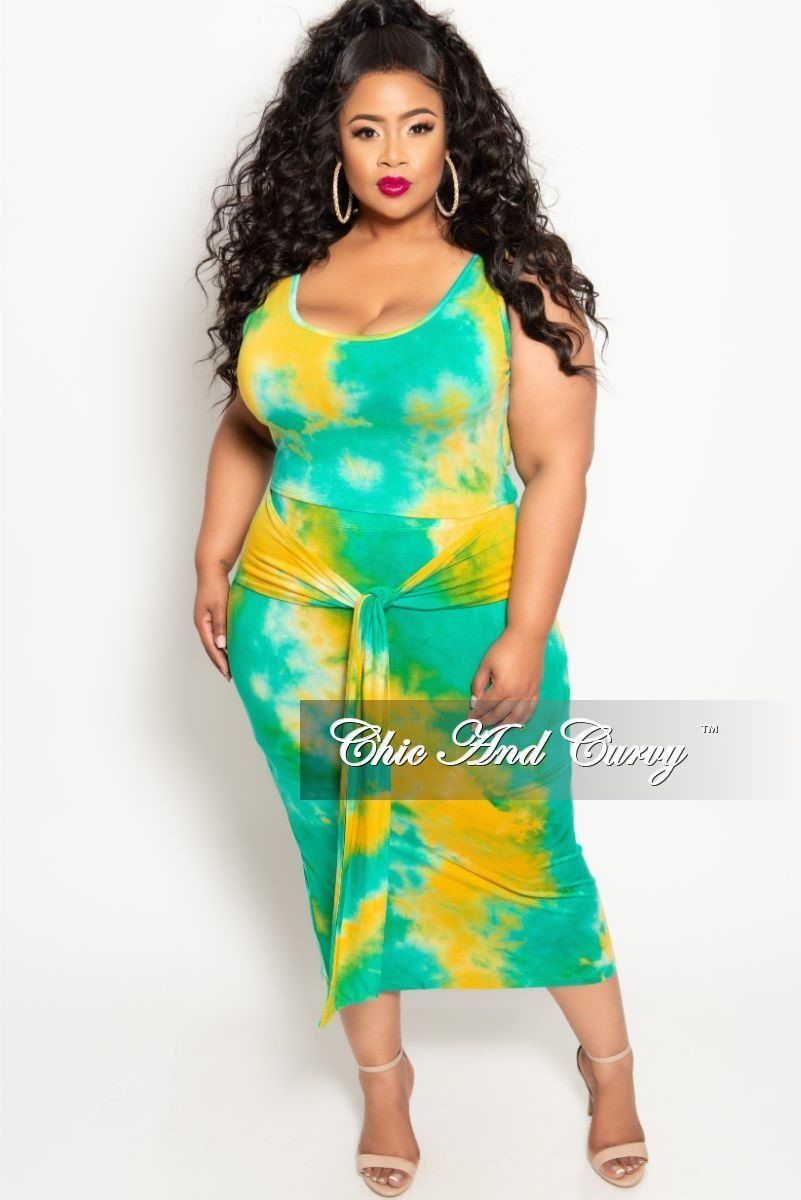 e2ea5c9561a Final Sale Plus Size 2-Piece Sleeveless Crop Top and Pencil Skirt Set – Chic