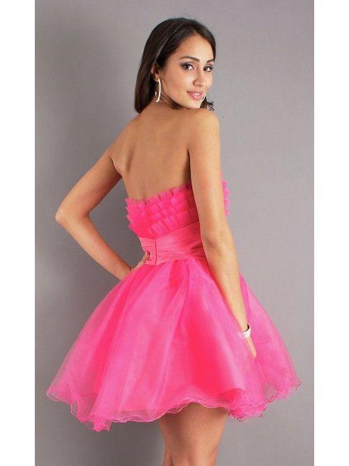 trap less dress for teens | Empire Short Strapless Taffeta Semi ...