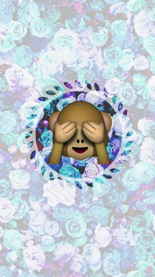 Monkey With Images Emoji Wallpaper Emoji Wallpaper Iphone Cute Wallpapers
