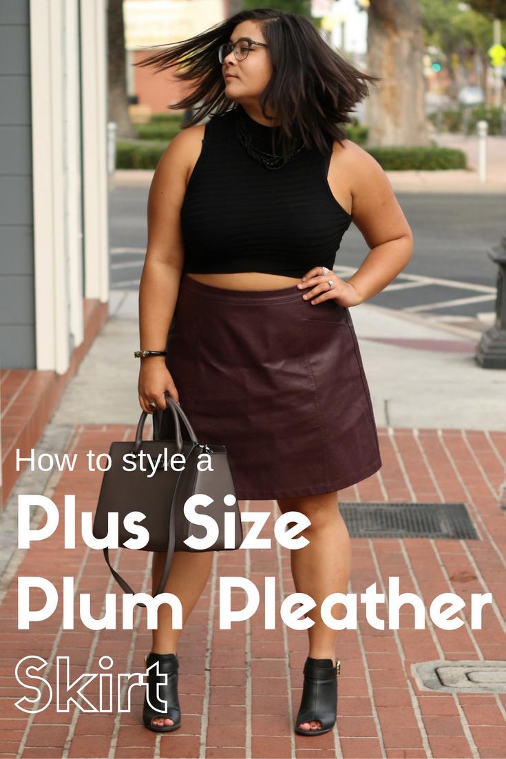 acb352e3c Plum Faux Leather Skirt – DACC