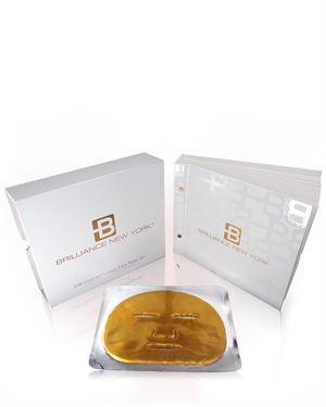 Brilliance New York Skin Care Cosmetics Stylish Daily Gold Face Mask Face Mask Set Diamond Face