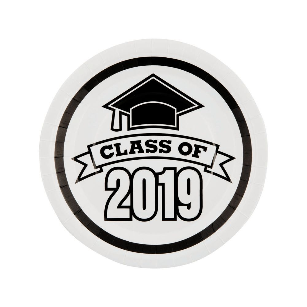 Oriental Trading Graduation 2020.White Class Of 2019 Paper Dinner Plates In 2019 Graduation