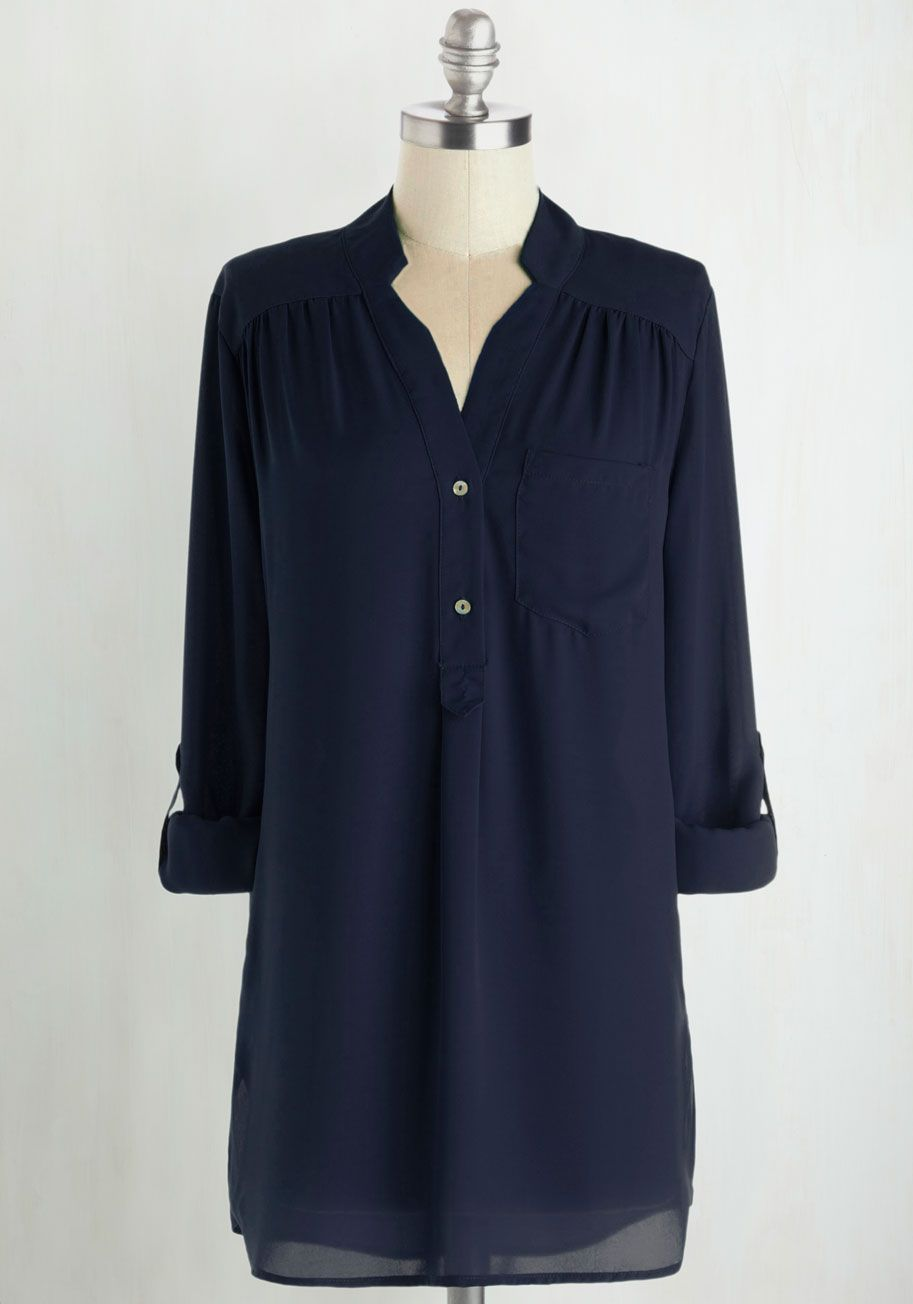 cb53b1fb3 Pam Breeze-ly Tunic in Navy. The Pam Breeze-ly Top is back and better than  ever! #blue #modcloth