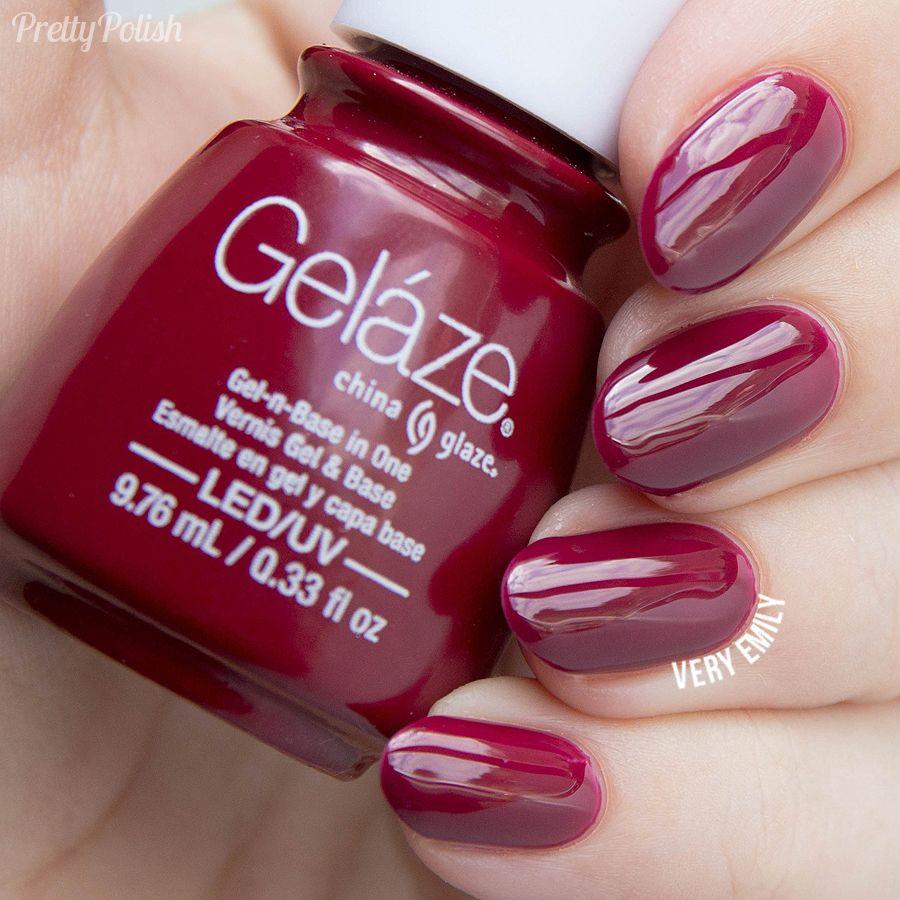 China Glaze Gelaze Seduce Me Nail Polish Gel Polish Colors China Glaze
