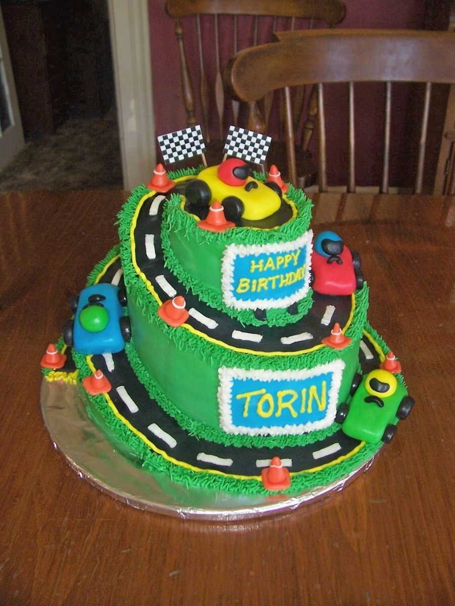 2 Year Birthday Ideas Race Car Cake Cakes Pinterest Car Cakes Cake And Cars