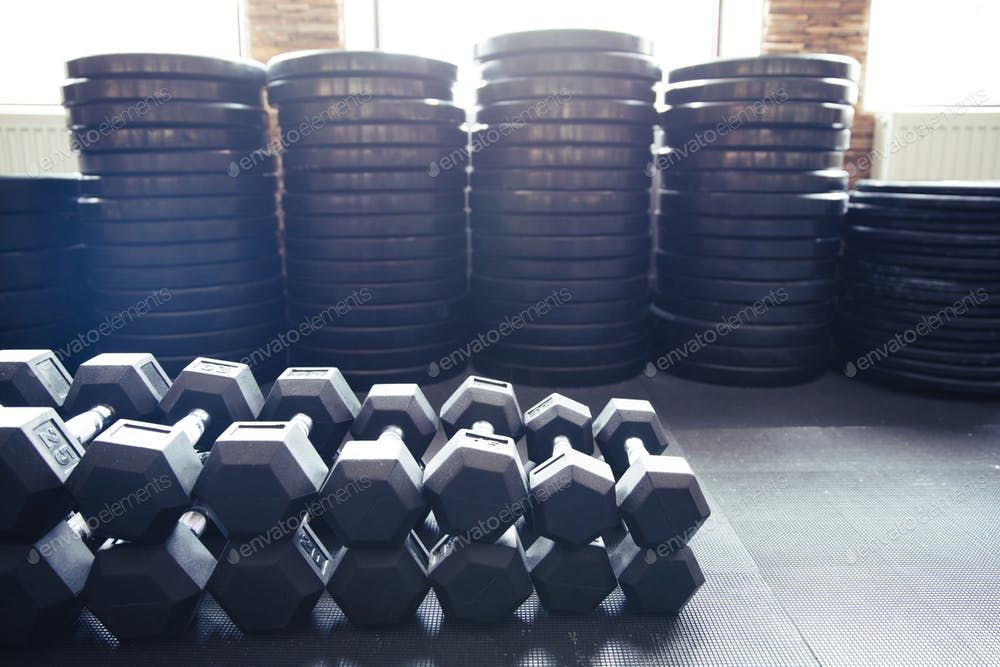 Closeup image of a fitness equipment By vadymvdrobot¡¯s photos #Ad , #AD, #image, #Closeup, #equipme...