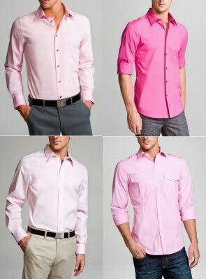 Pink Mens Dress Shirt