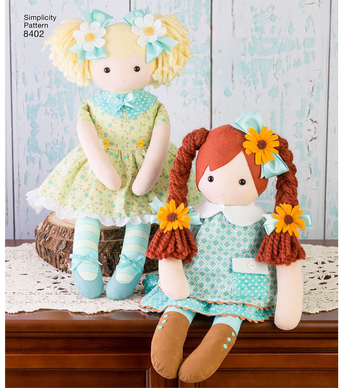"""Photo of Simplicity Pattern 8402 23"""" Stuffed Doll with Clothes 