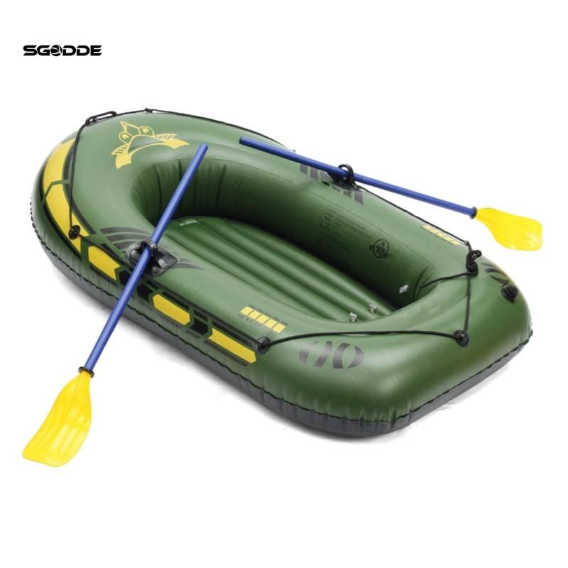 Sgodde 2person 3person Thickening Pvc Inflatable Boat Raft River Lake Dinghy Boat Pump Fishing Boat With Oars Set Loa Dinghy Boat Inflatable Boat Fishing Boats