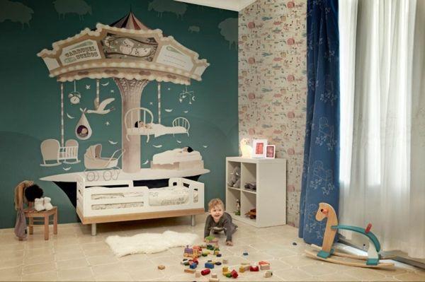 Süße Farben Und Wandgestaltung Im Kinderzimmer Und Babyzimmer