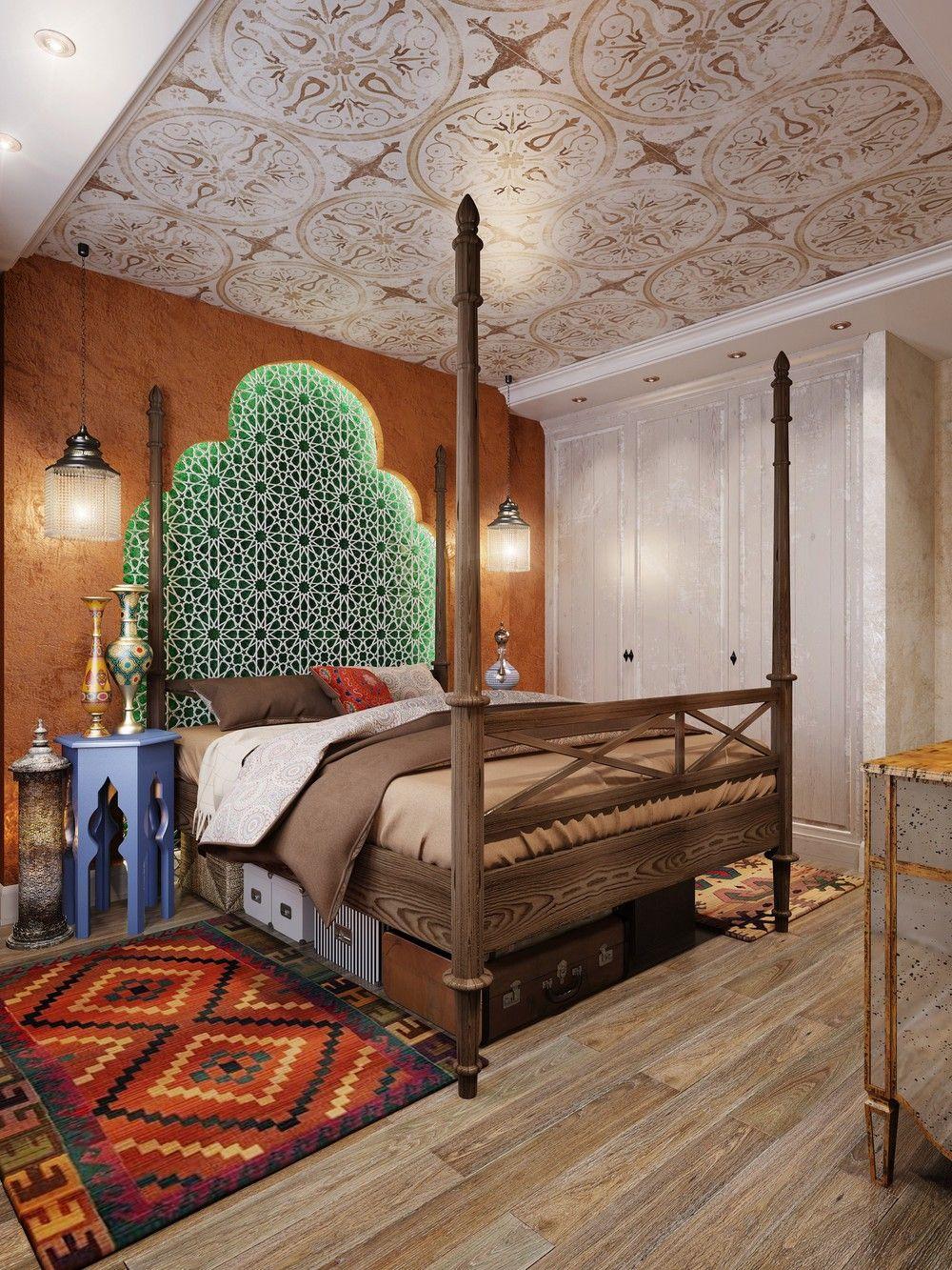 вид кровать в восточном стиле фото очень понравился насыщенный
