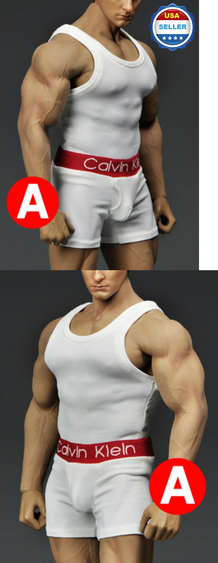 1//6 Men Tank Top Underwear Set GRAY For Phicen M33 M34 Hot Toys Muscular Figure