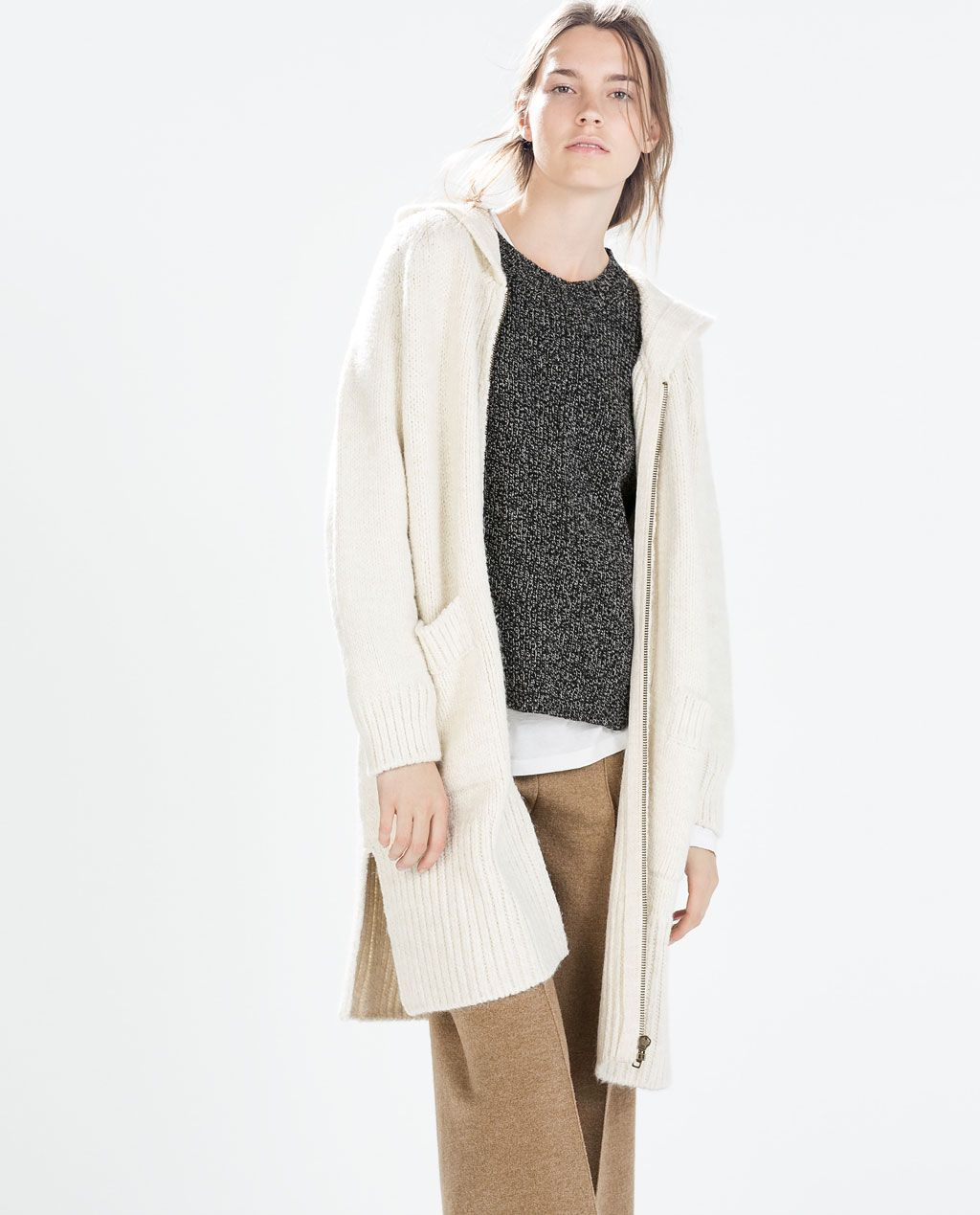 Image 2 of LONG SOFT CARDIGAN from Zara | Odeca | Pinterest ...