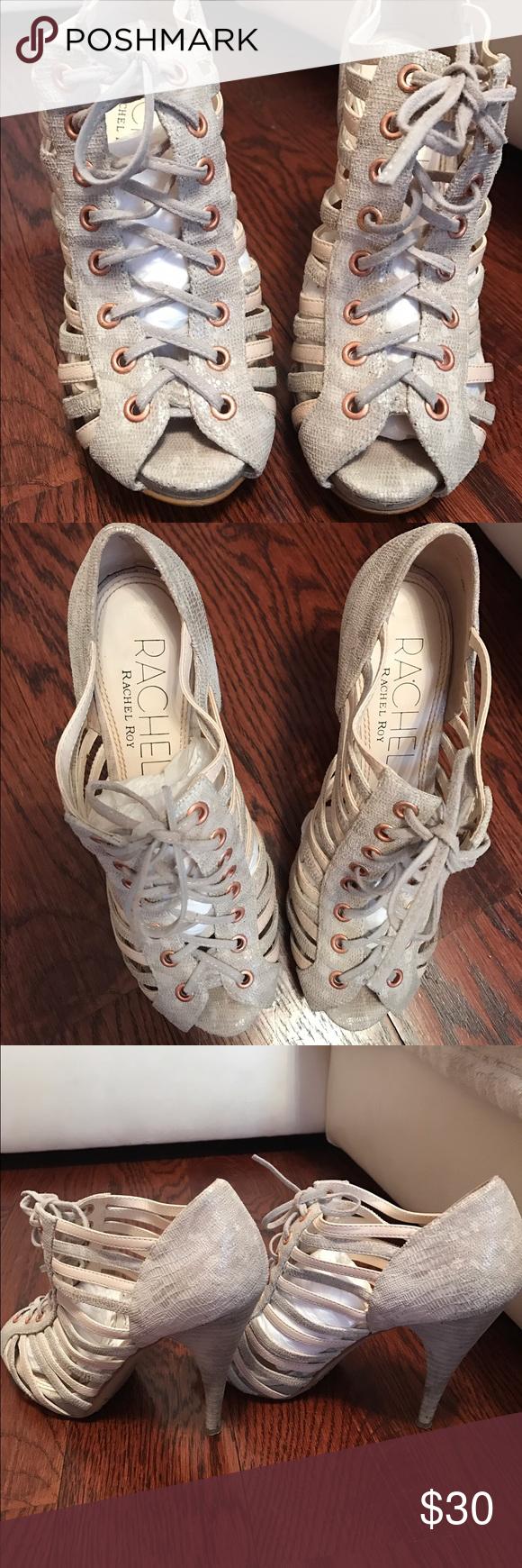 Rachel Roy booties Worn in very good condition RACHEL Rachel Roy Shoes Lace Up Boots