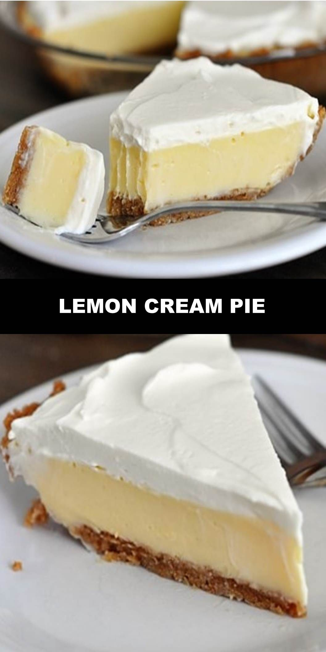 The World's Most Delicious LEMON CREAM PIE YIELD: 6-8 SERVINGS PREP TIME: 20 MINUTES COOK TIME: 28 MINUTES ADDITIONAL TIME: 3 HOURS TOTAL TIME: 3 HOURS 48 MINUTES