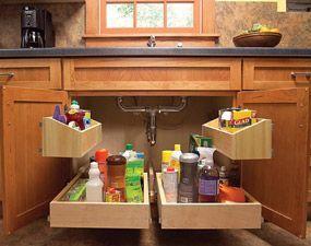Otimizando espaço na cozinha.