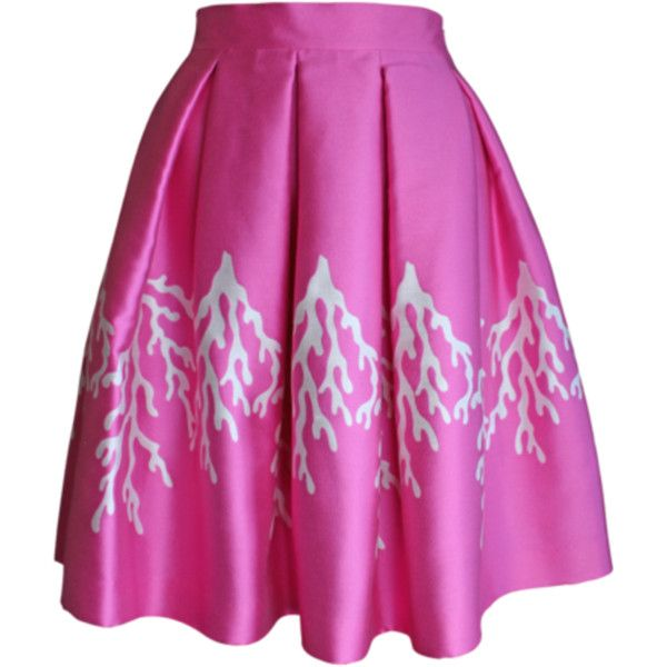 Plakinger Pink Coral Full Skirt ($607) ❤ liked on Polyvore featuring skirts, hi lo skirt, pink skirt, full pink skirt, purple skirt and mullet skirt