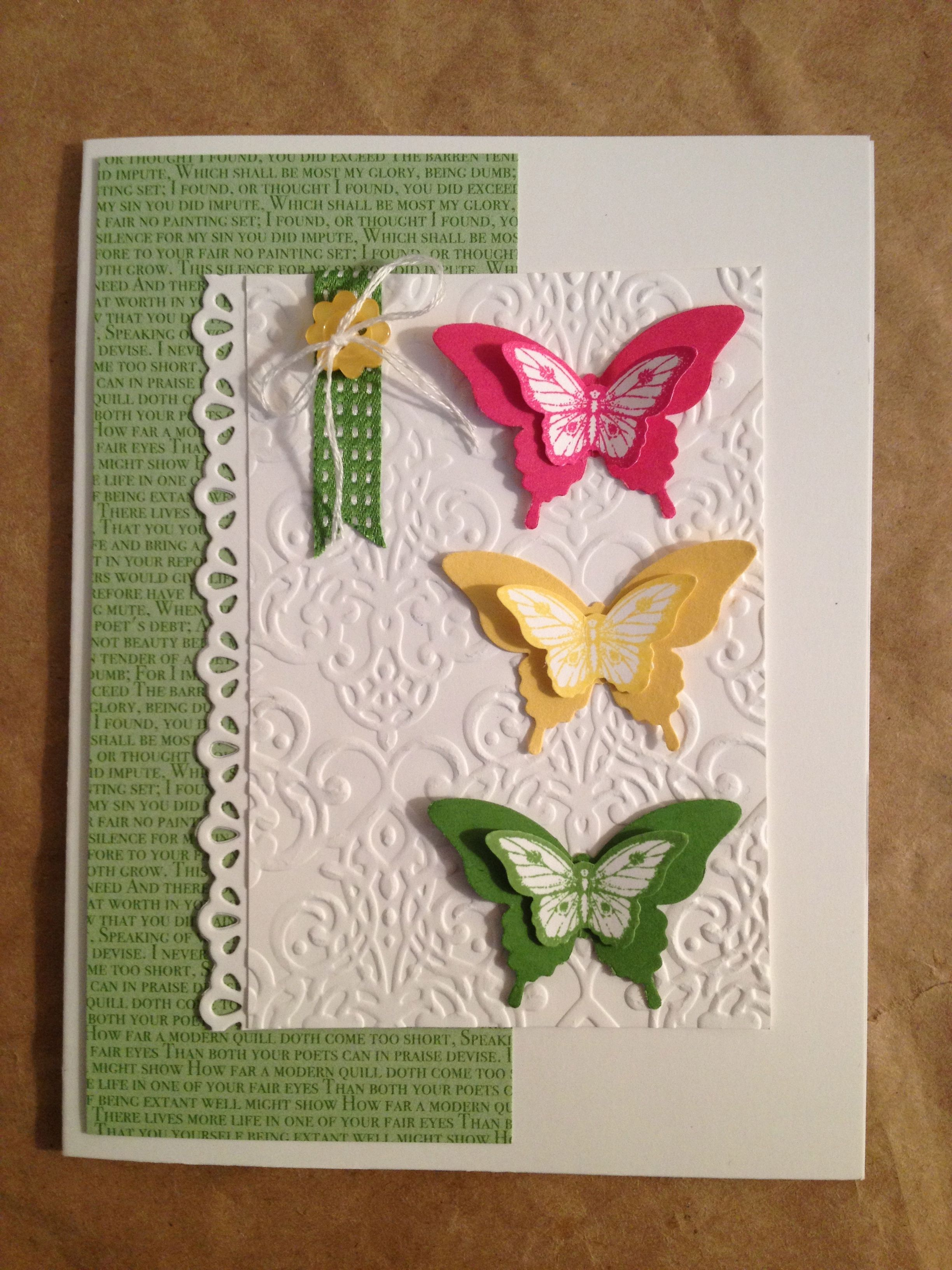 Stampin Up Blank Card - Papillon Potpourri http://anfletcher.stampinup.net