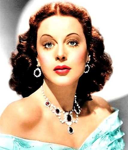 Hedy Lamarr wearing Joseff Hollywood Jewelry