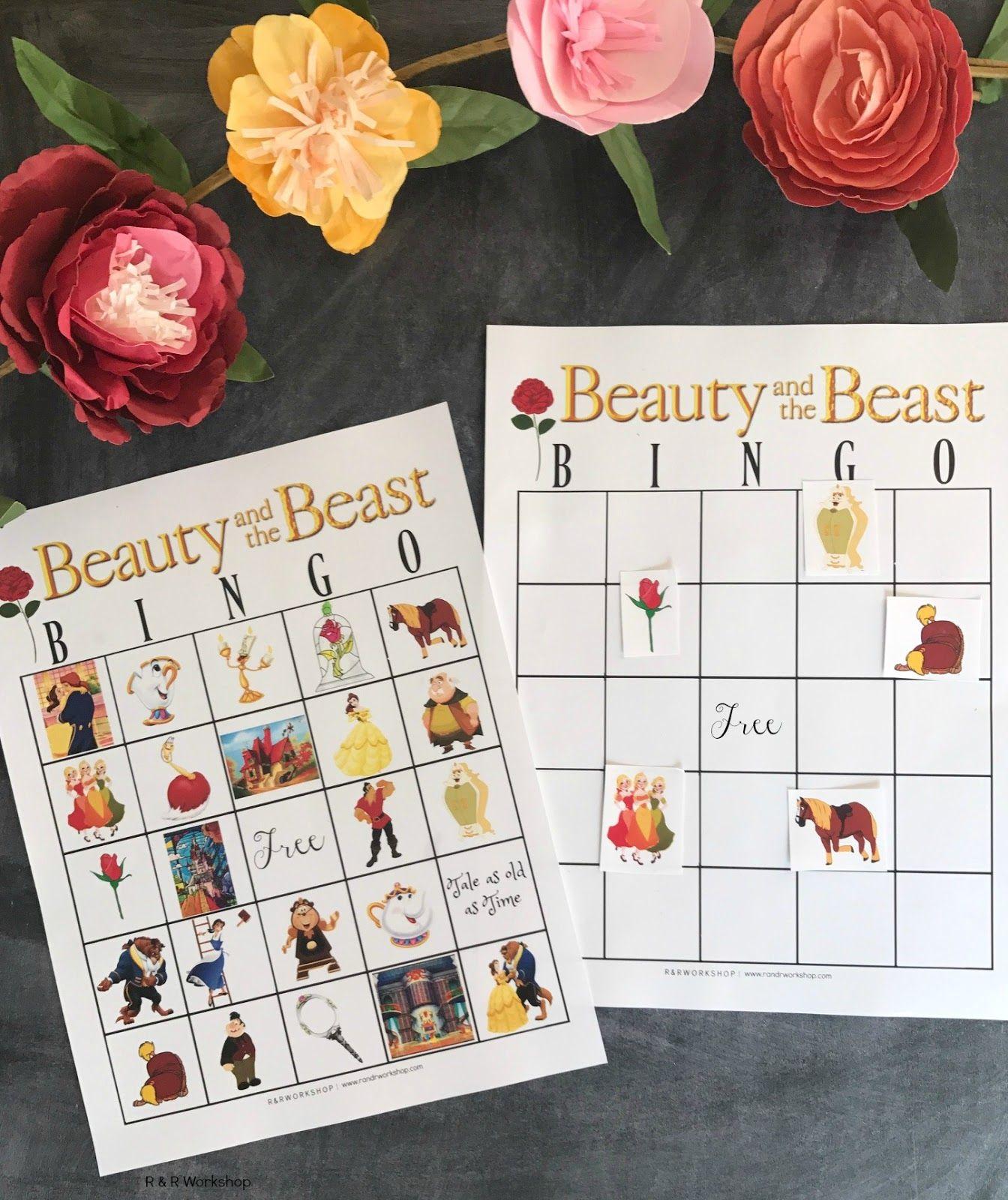 Beauty and the Beast Bingo Game (Free Printable) Beauty