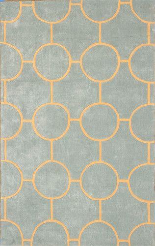 large modern area rug carpet lush circular geometric designer rug