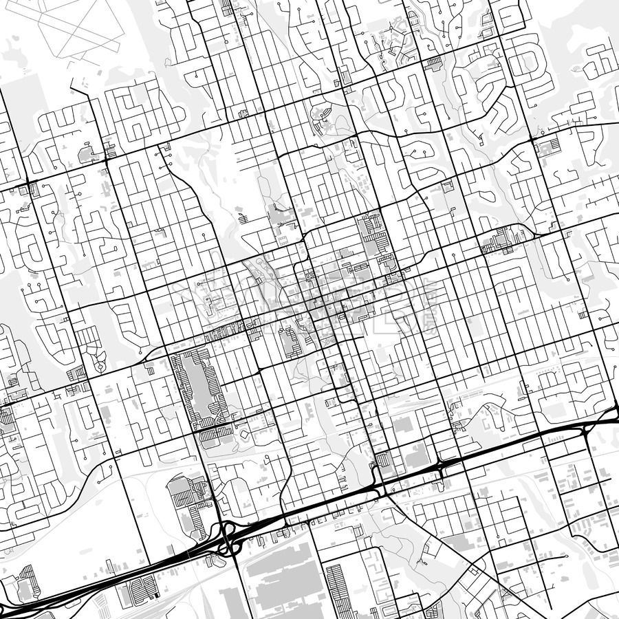 downtown map of oshawa canada maps vector downloads pinterest Ontario Wildlife oshawa ontario canada downtown city map in light version with buildings and many details for high zoom levels this map of oshawa contains typical