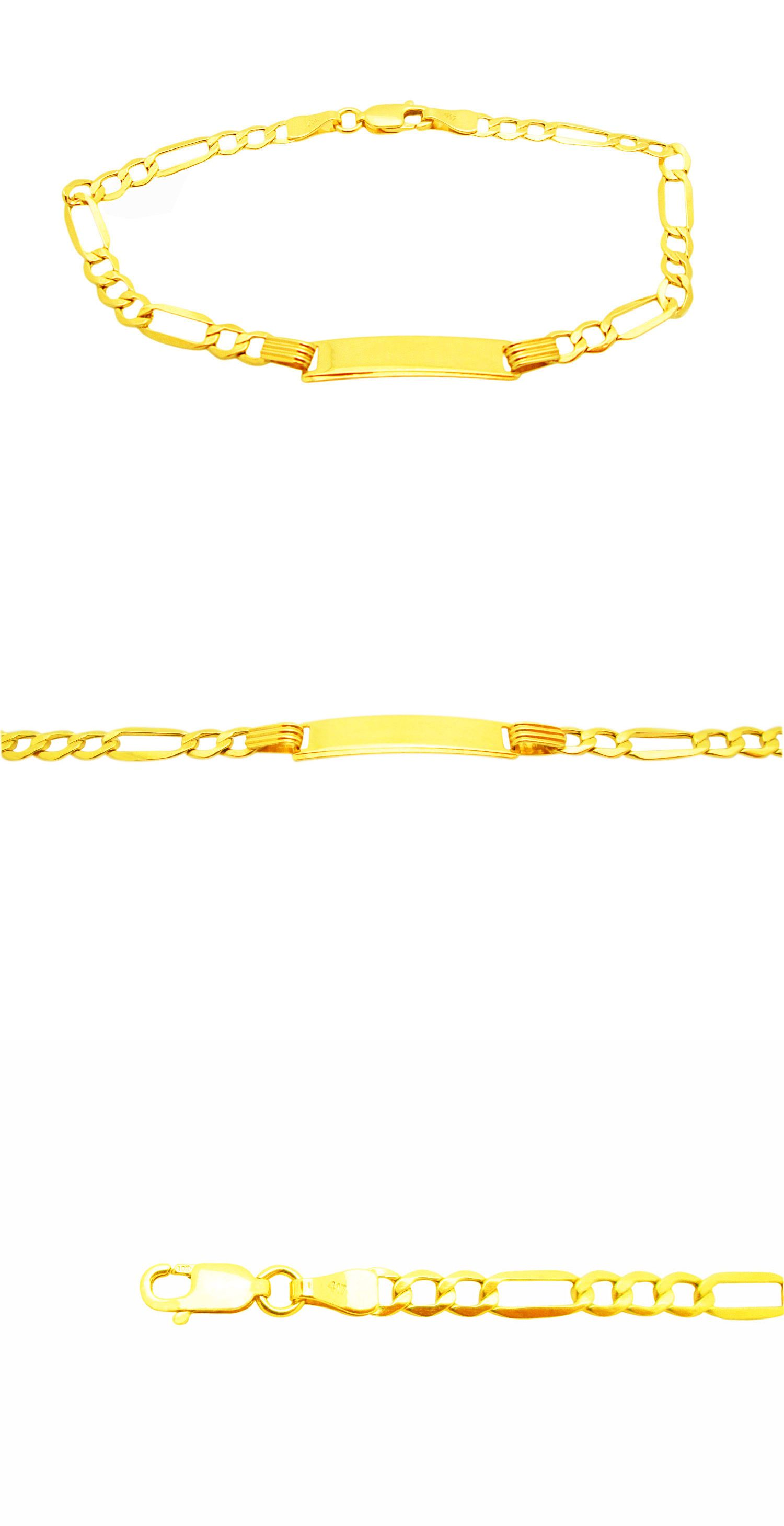 Bracelets babies toddlers k yellow gold mm figaro link