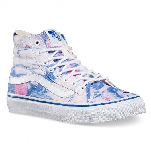 4756029c50 VANS SK8-Hi Slim Marble true white chaussures montantes femmes 85
