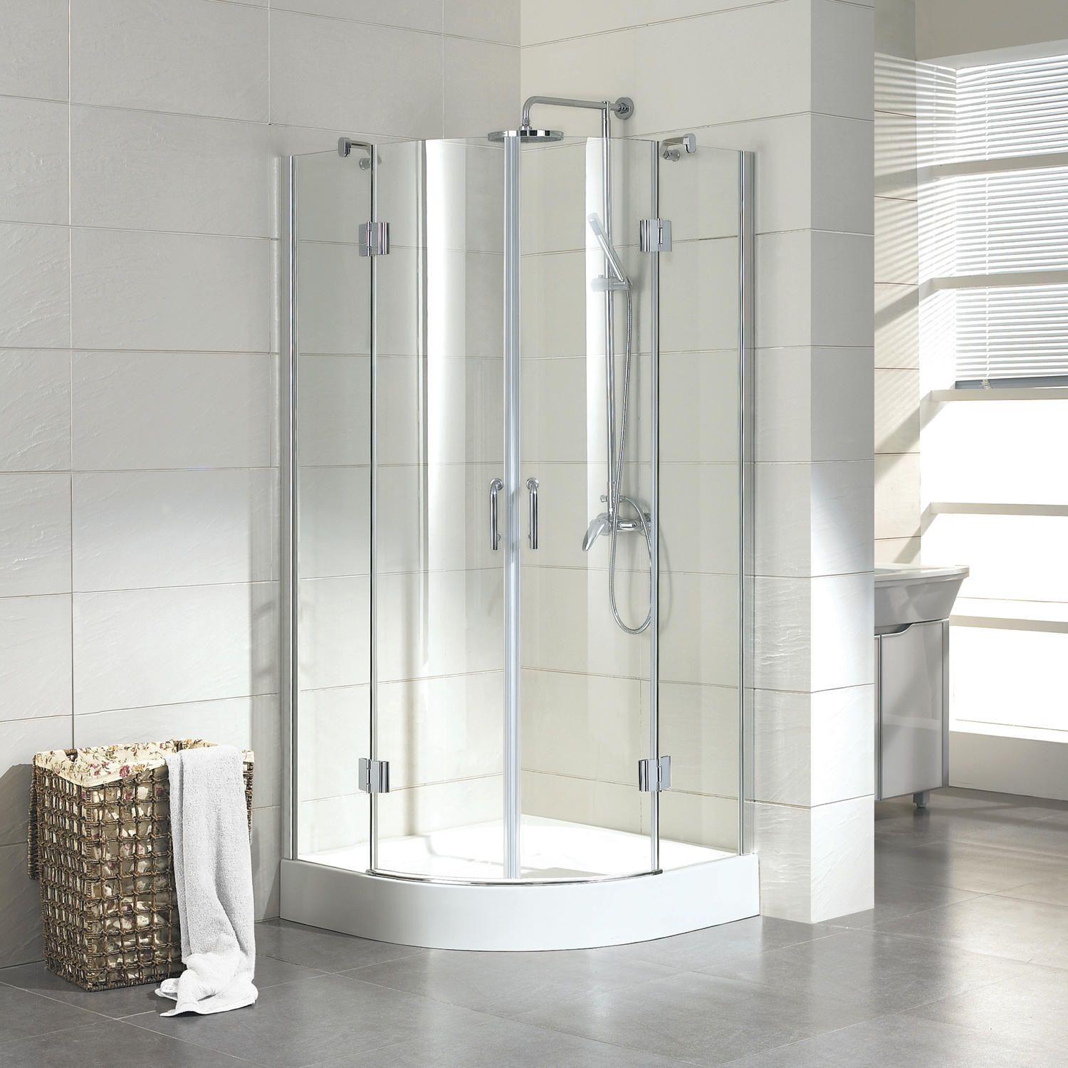 36 X 36 Mauny Round Corner Shower Enclosure With Tray