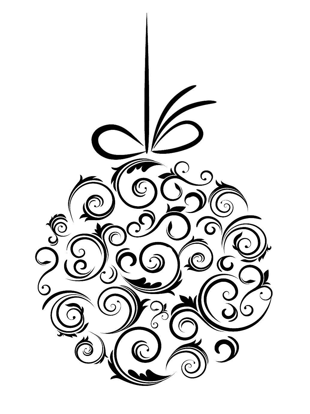 23+ Christmas presents clipart black and white info