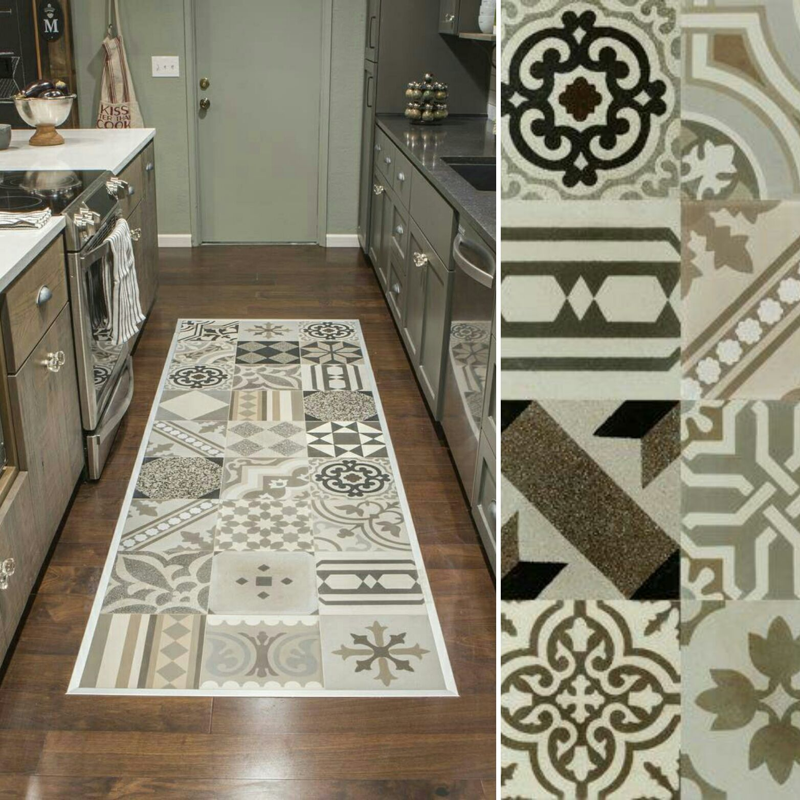 Our Hydraulic Patchwork porcelain tile made an appearance on the ...