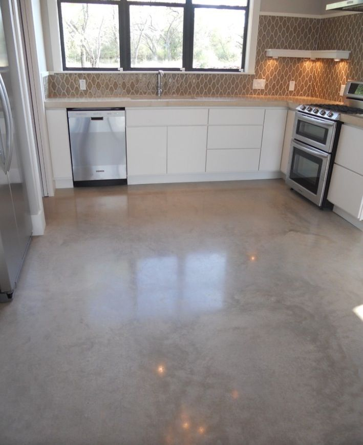 Sealed cement floor no stain google search remodel for What to clean concrete floors with