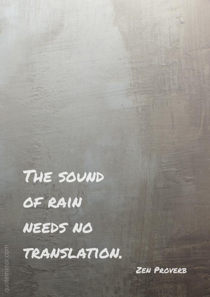 The sound of rain Rain quotes, Quotes, Life quotes
